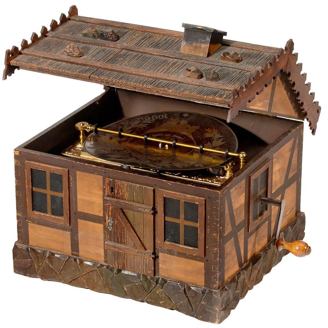 "Rare ""Automatic Monopol"" 11¾-inch Disc Musical Box, c."