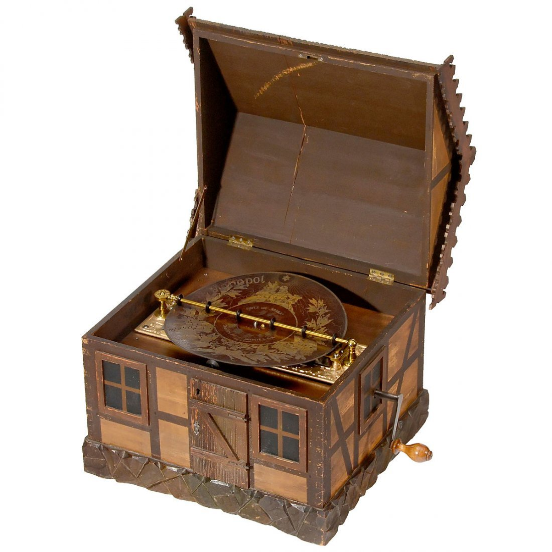 "Rare ""Automatic Monopol"" 11¾-inch Disc Musical Box, c. - 3"
