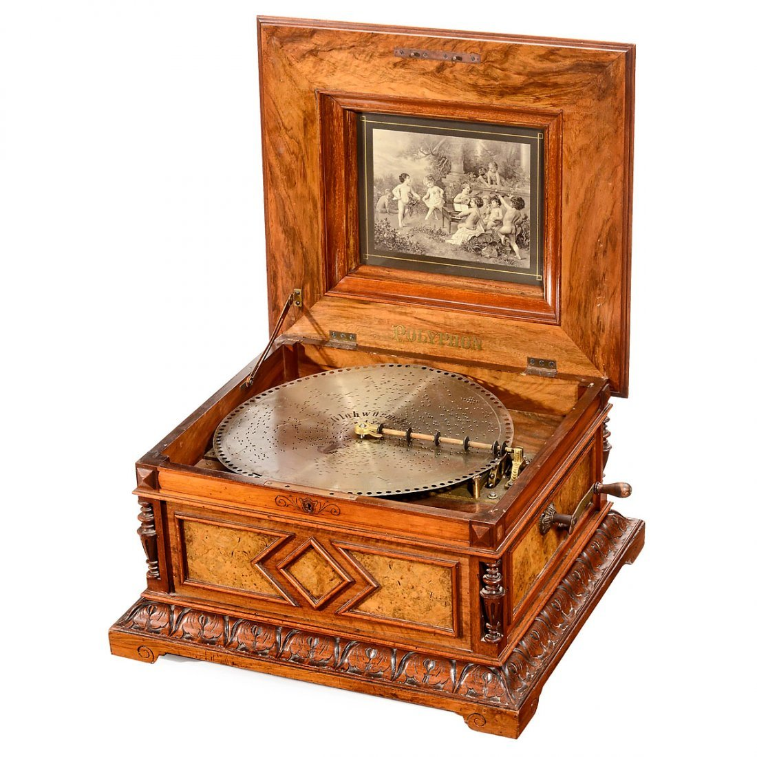 Polyphon No. 45 Disc Musical Box with 10 Discs, c. 1905