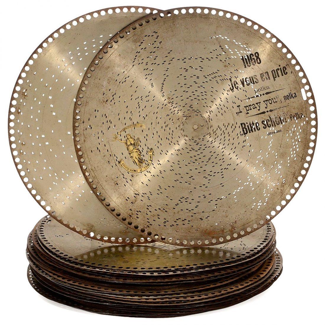 """37 """"Polyphon"""" Ø 15¾-inch Discs"""