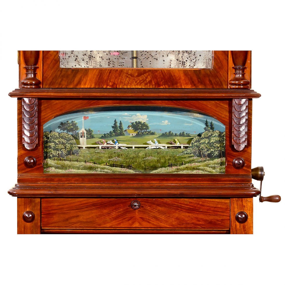 Kalliope Horse Race Panorama Disc Musical Box, c. 1900 - 2