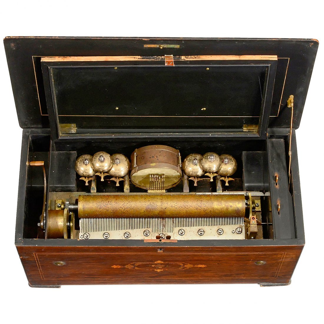 Drum and Bells Musical Box by Bremond, c. 1880