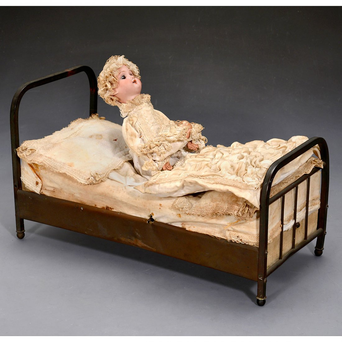 Sleeping Mother and Baby Musical Automaton, c. 1910
