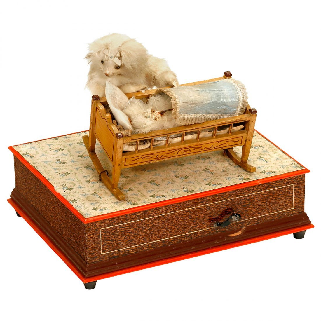 Mother Cat Musical Manivelle Automaton, c. 1900