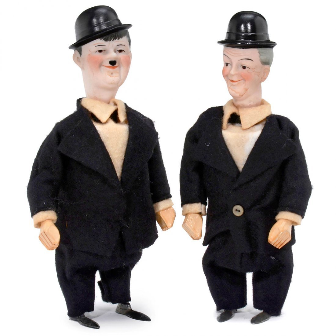 Rare Laurel and Hardy Clockwork Toys by Hertwig & Co.,