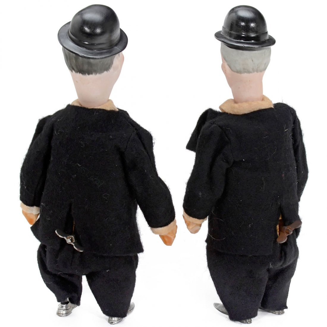 Rare Laurel and Hardy Clockwork Toys by Hertwig & Co., - 2