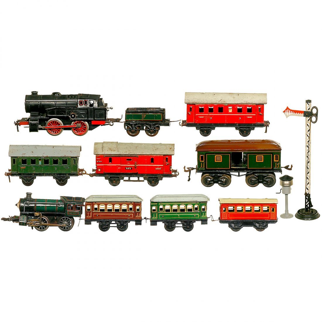 Group of Toy Trains Gauge 0, c. 1950