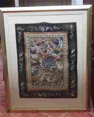 Antique / Vintage Chinese Framed Textile