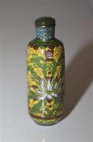 19th / 20th Century Antique Chinese Cloisonne Snuff