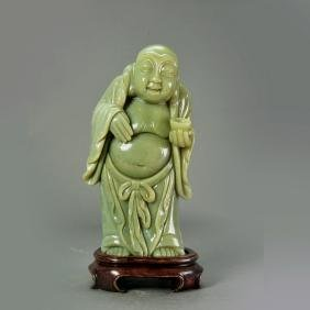Chinese Old Jade of Buddha Figure