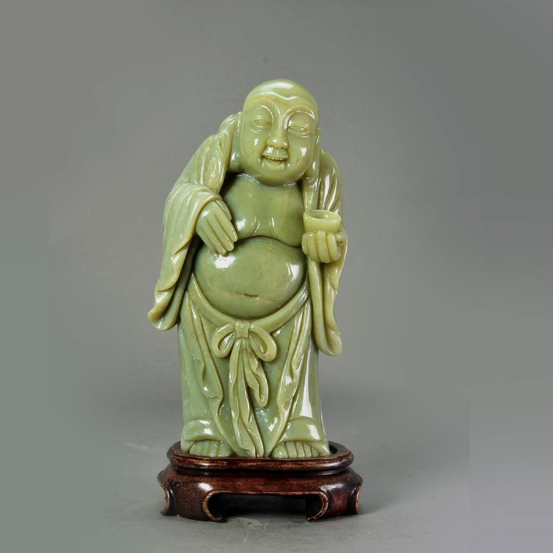 Chinese Old Jade of Buddha Figure