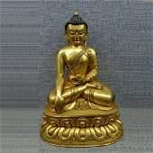 ntique Gilt Bronze Buddhism Buddha Statue