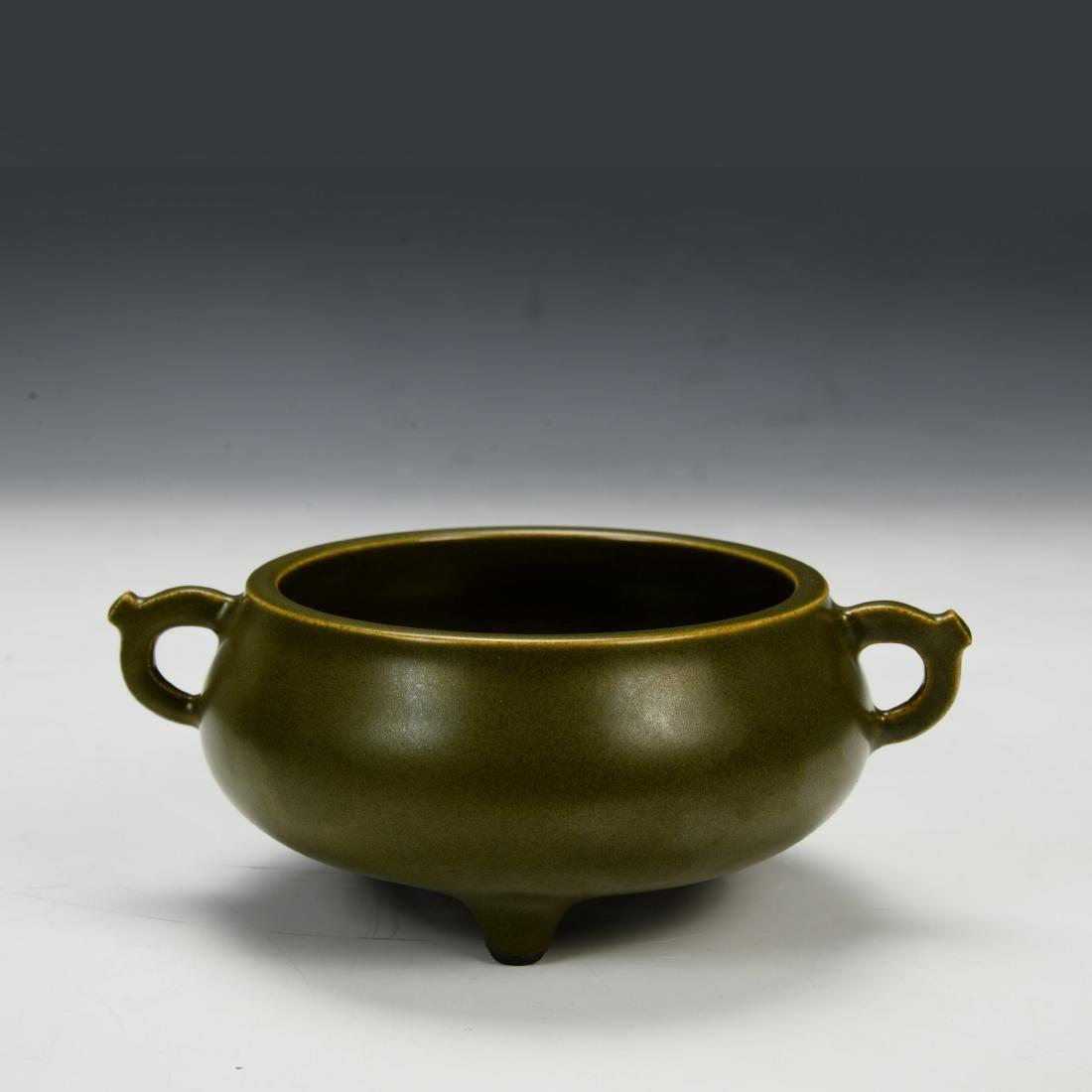 Chinese Teadust Glazed Censer