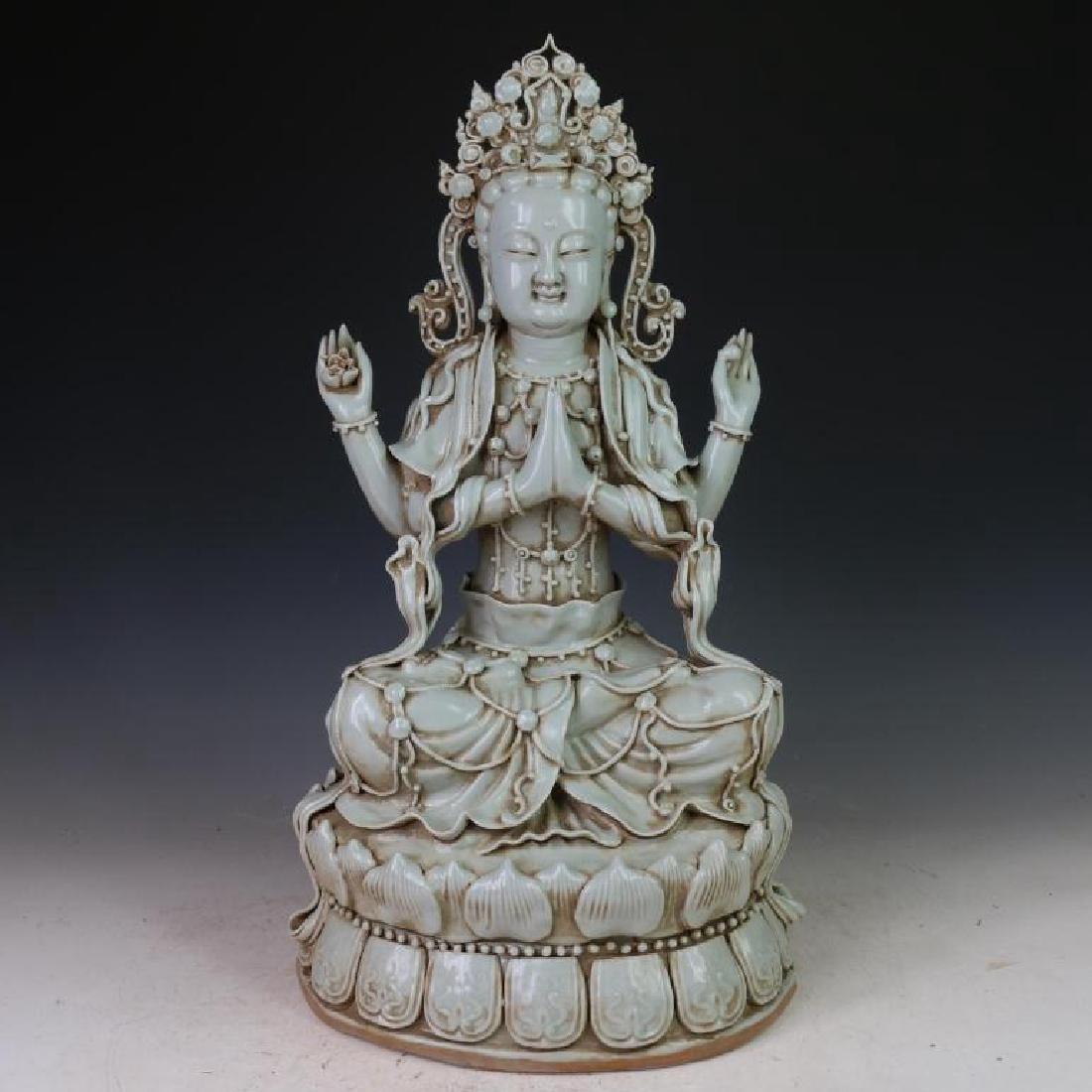 Chinese Yin Qing Guang Ying Statue