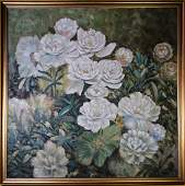 Oil Painting on Canves, Flower
