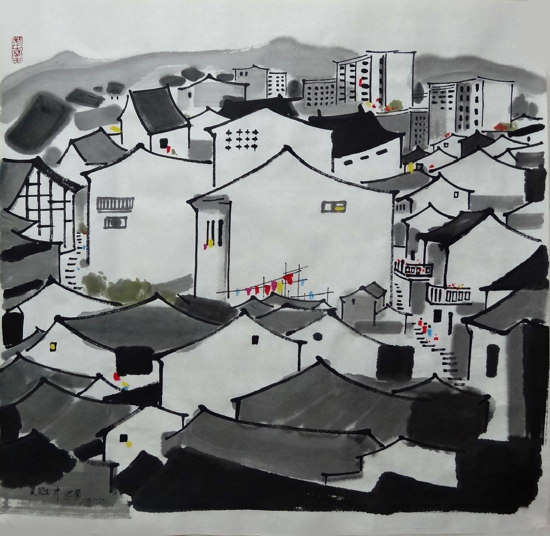 Chinese Painting , Signed Wu Guan Zhong (1919-2010)