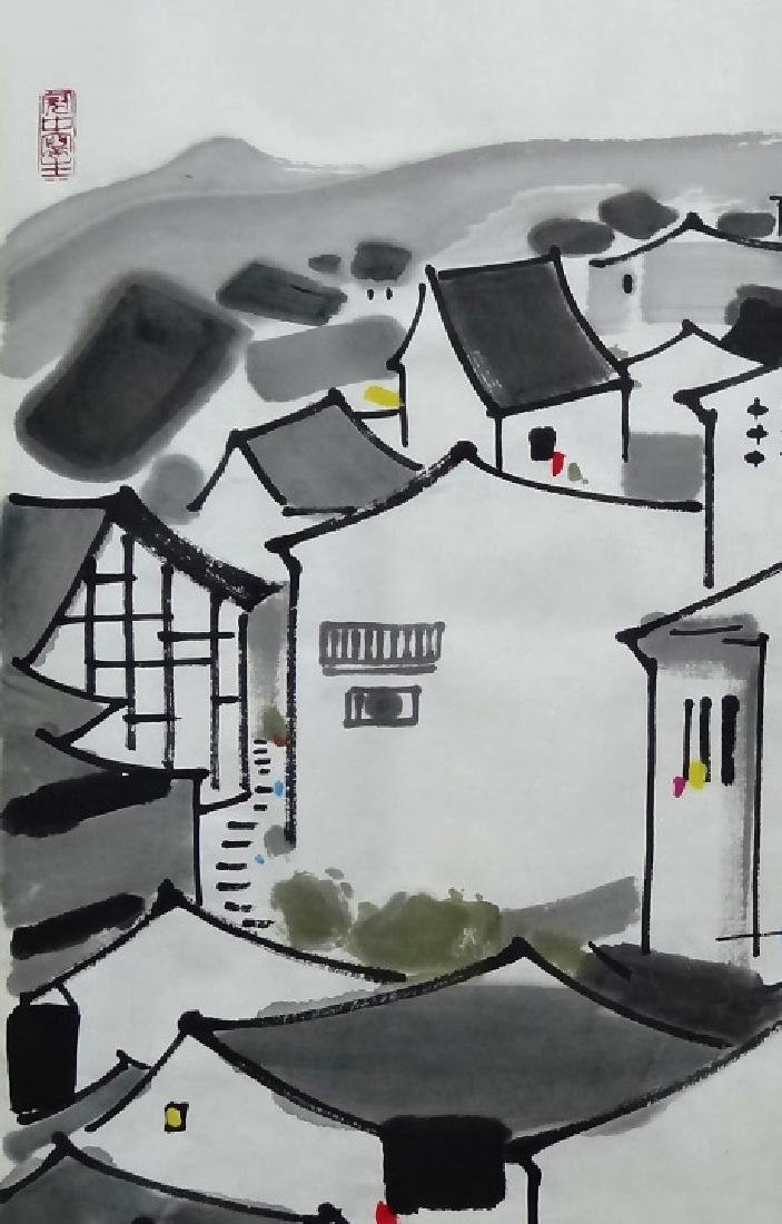 Chinese Painting , Signed Wu Guan Zhong (1919-2010) - 3