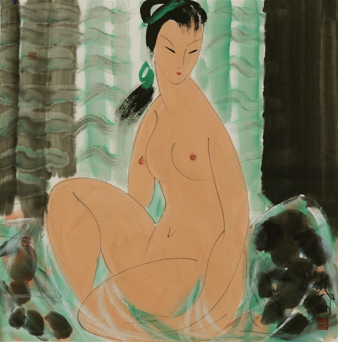 Chinese painting of figure, Lin Fengmian (1900-1991),