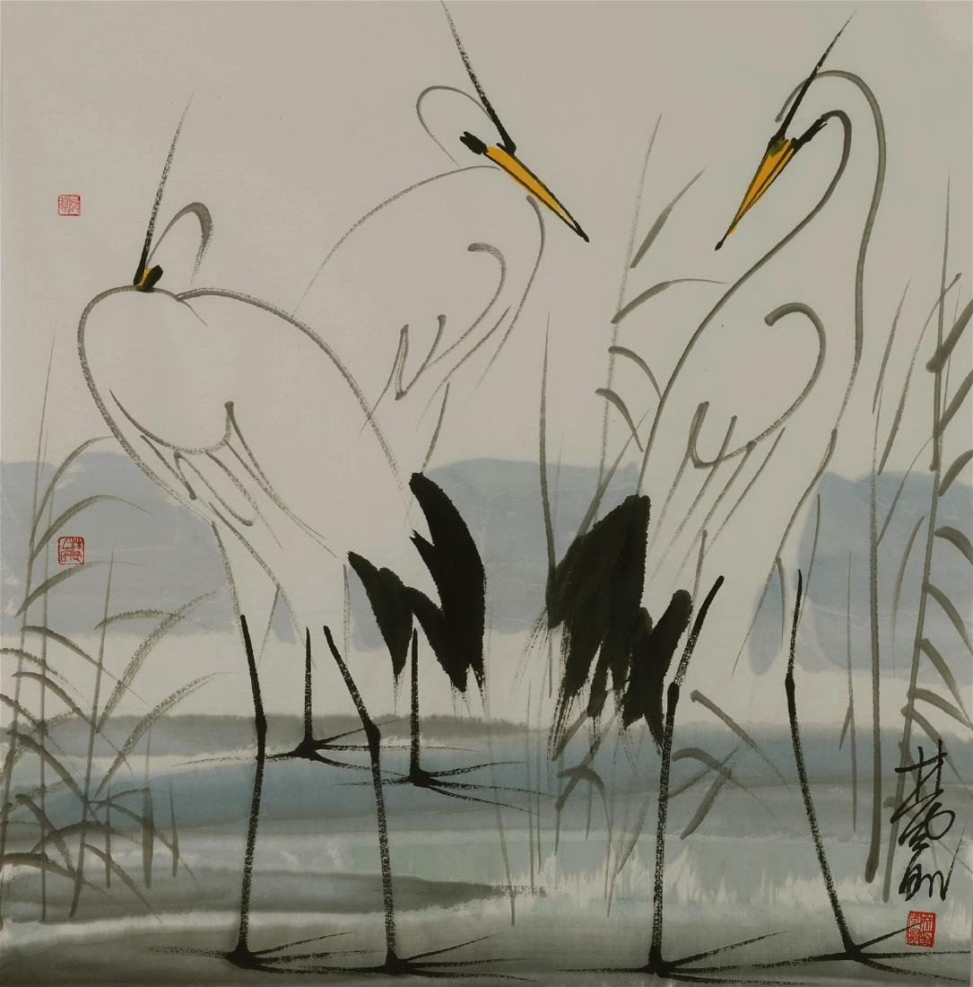 Chinese painting , Signed Lin Fengmian (1900-1991),