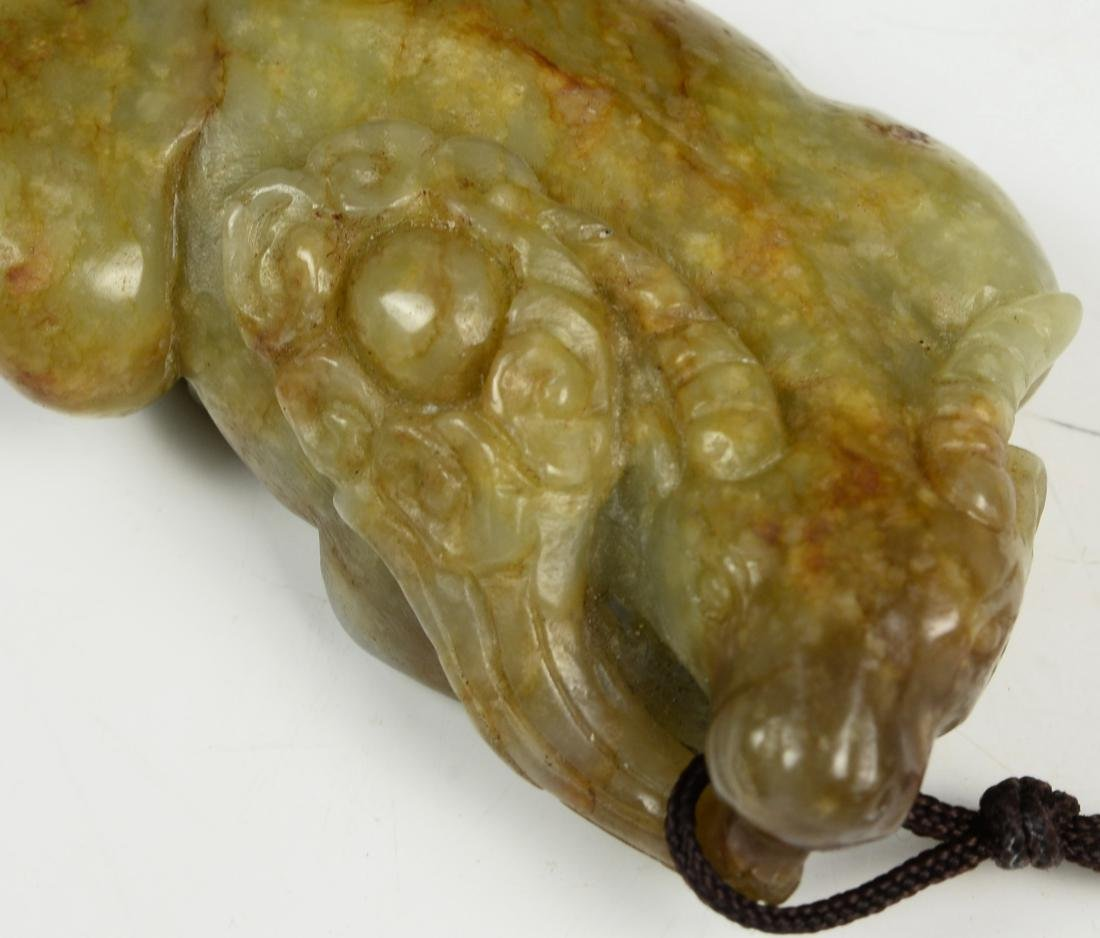 Chinese Archaic He Tian Jade Carved - 2