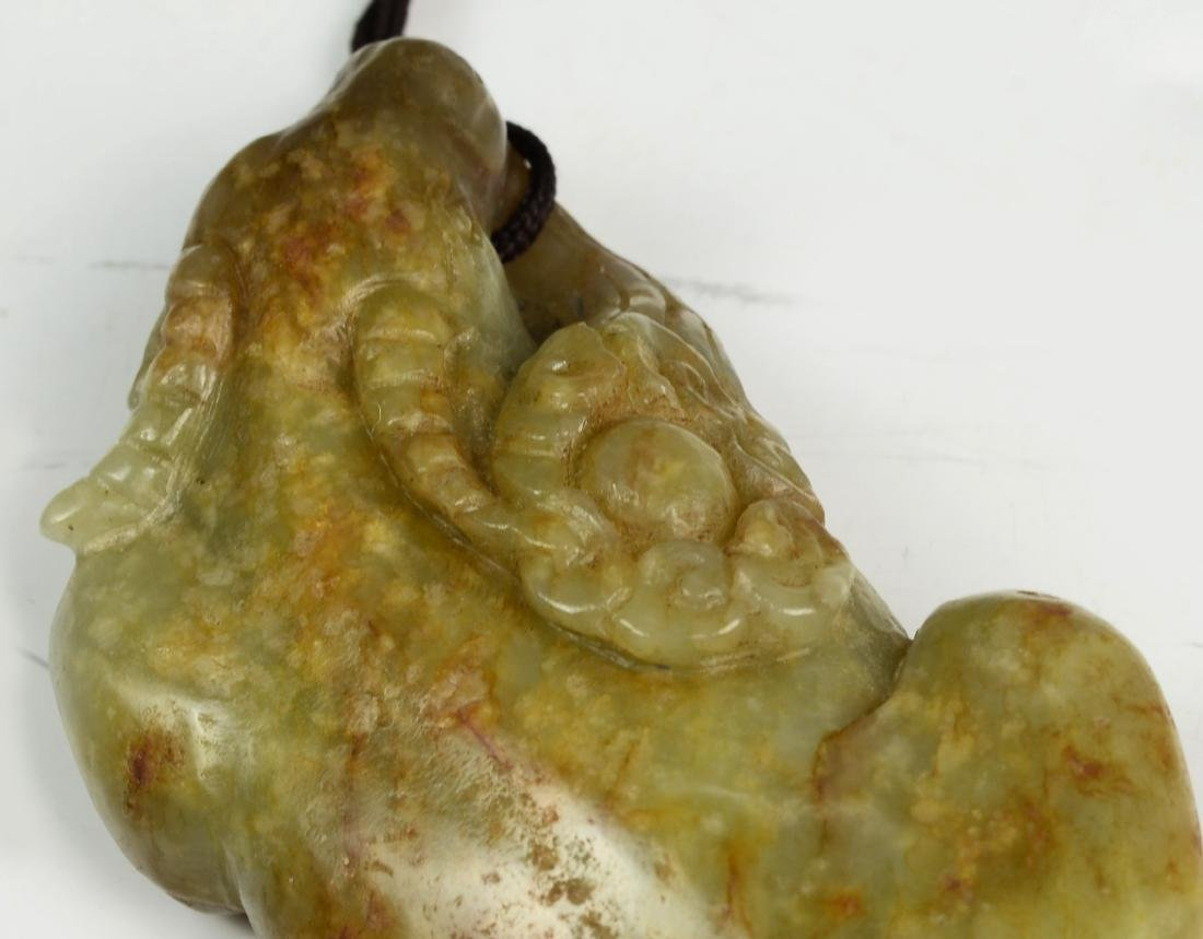 Chinese Archaic He Tian Jade Carved - 5