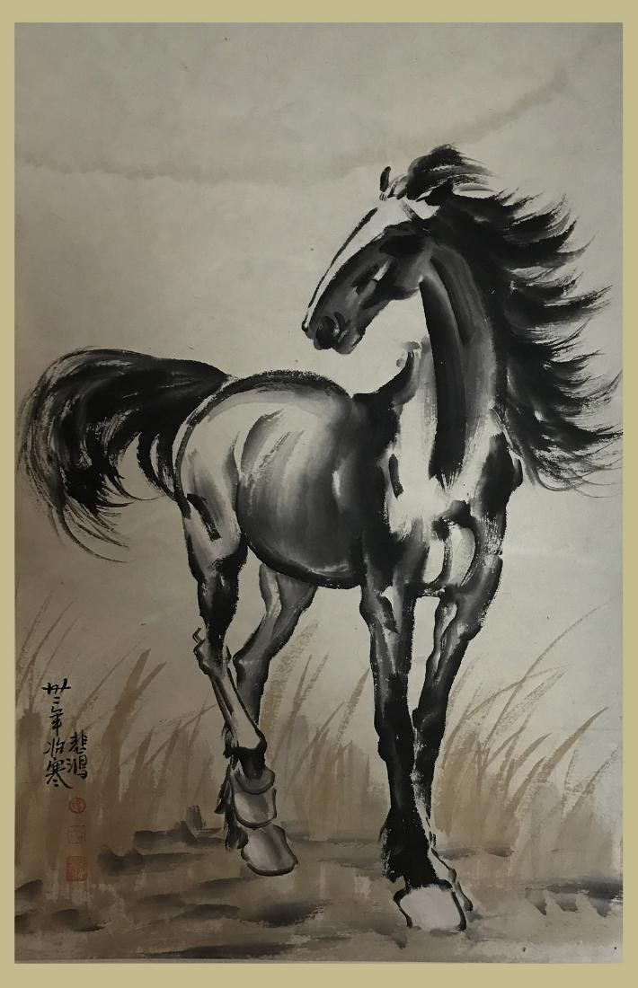 Chinese Painting of Horse Signed Xu Beihong