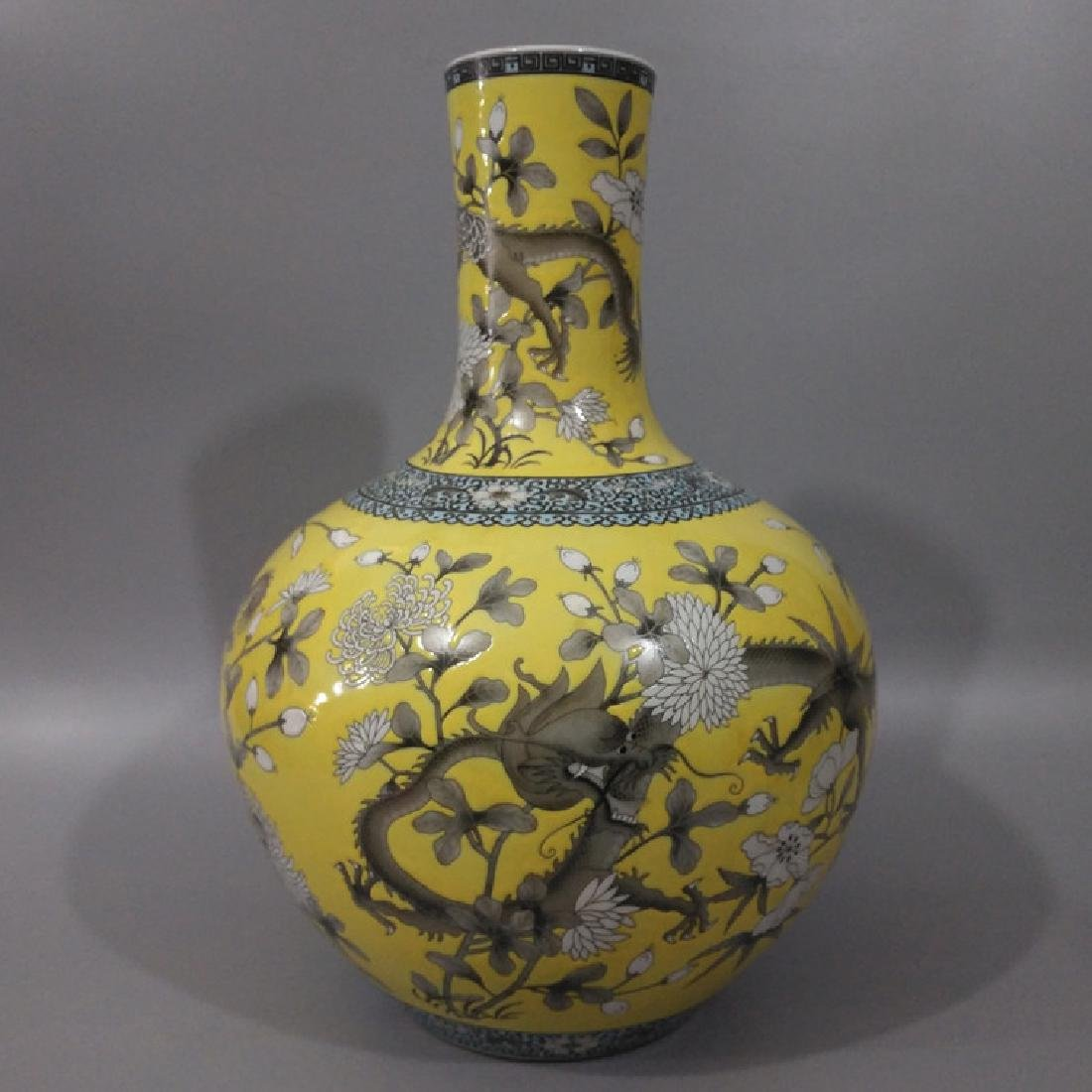 Chinese Famile Rose Ball Vase