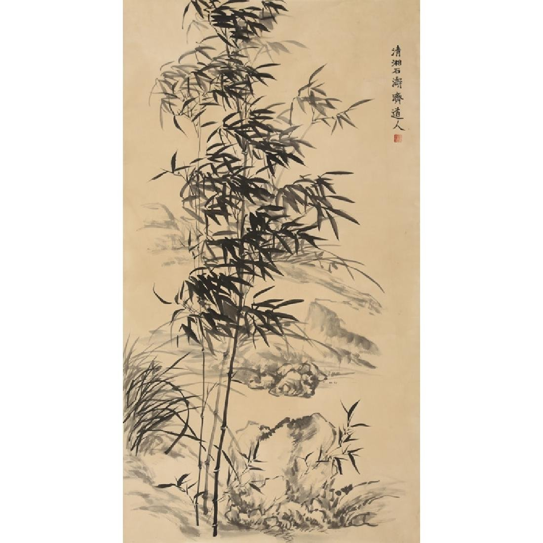 Chinese Painting of Bamboo, Signed Shi Tao