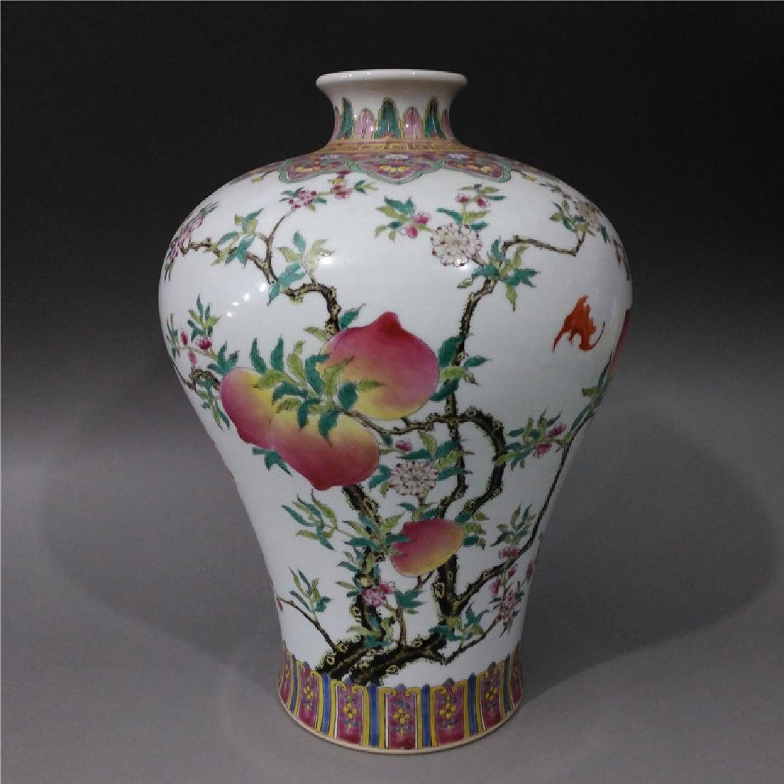 Chinese Famile Rose Mei Vase