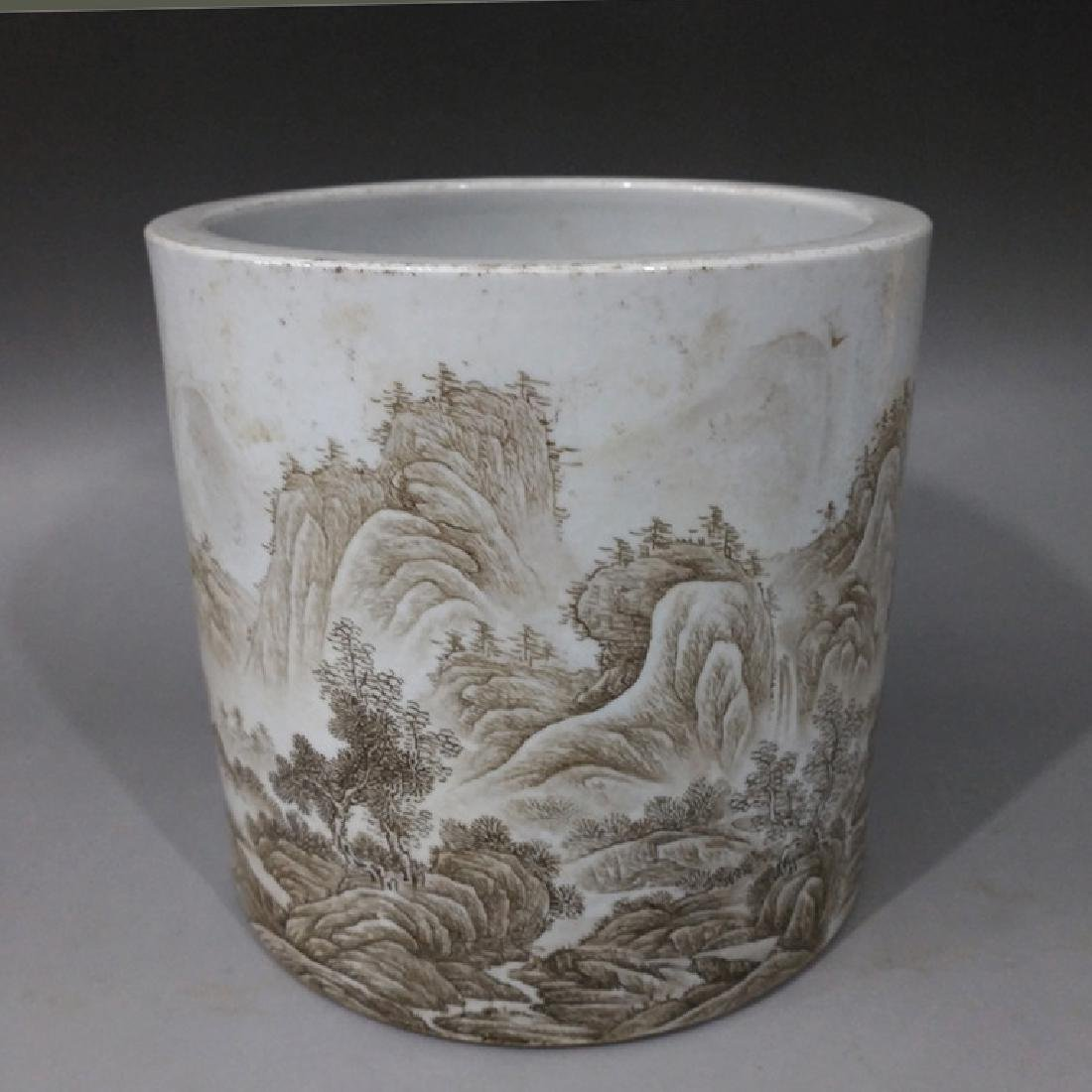 Chinese Ink Color Brush Pot