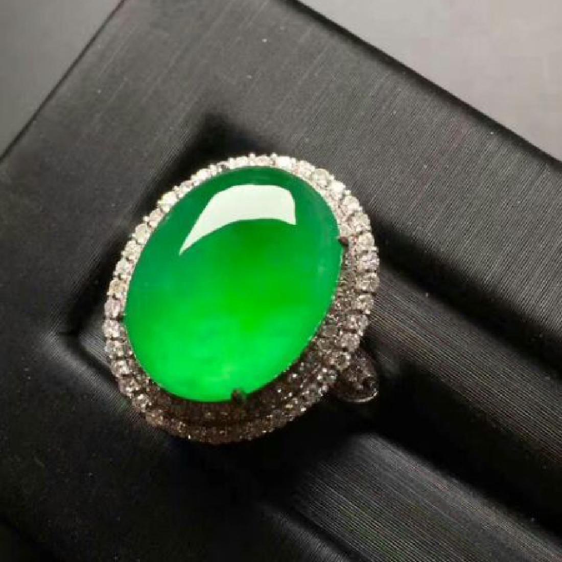 Chinese Jadeite 18K Gold Ring