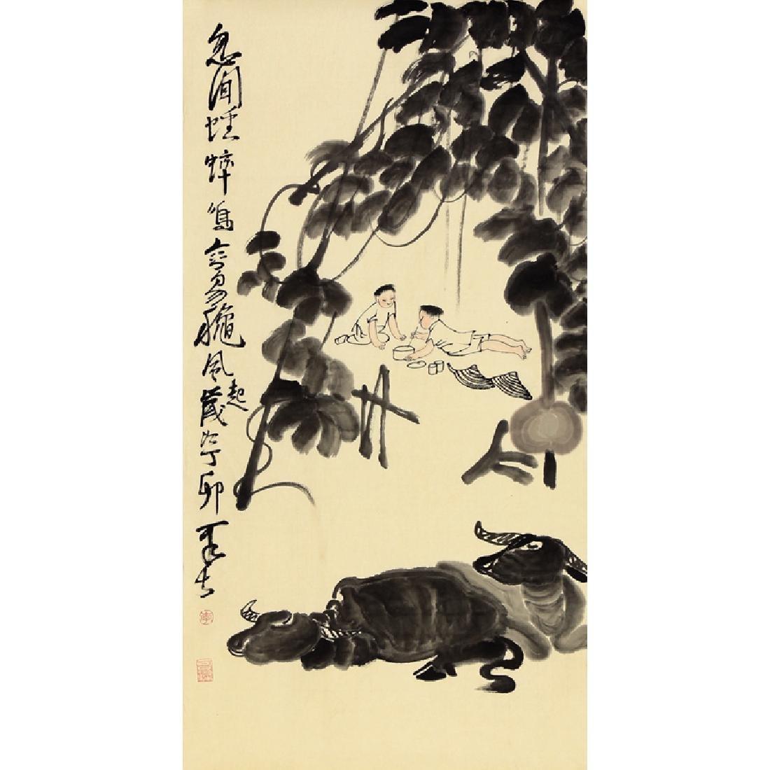 Chinese Painting of Figure,Signed Li Ke Ran