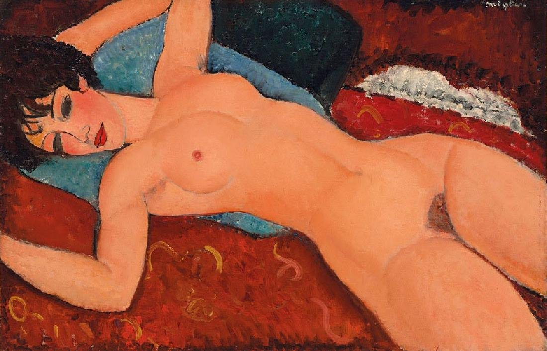 Oil Painting of Nude Women, Modigliani