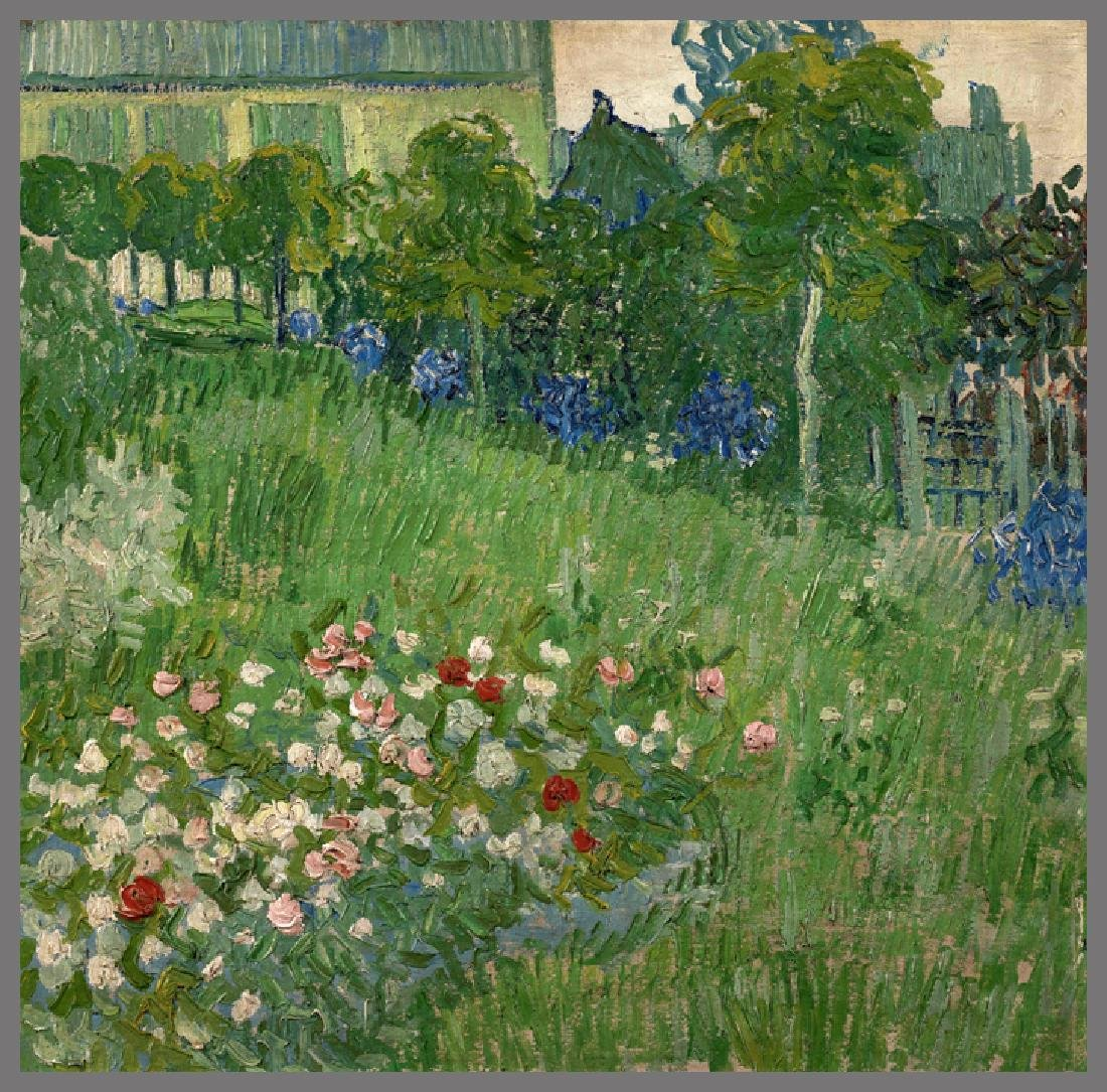 Oil Painting of Dubini Garden, Van Gogh