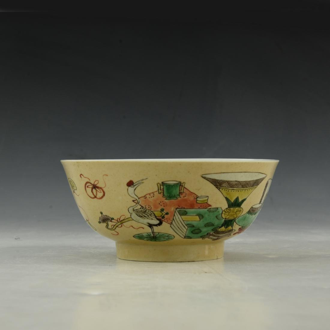 A five-color bowl,Kang Xi period, Qing