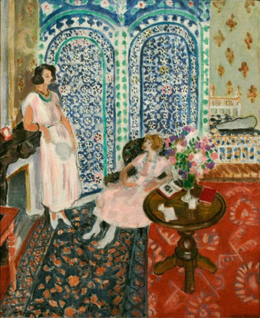 Oil Painting of The Moorish Screen, Henri Matisse