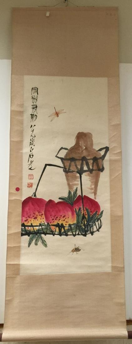 Chinese Ink and Color on Paper, Signed Bai Shi - 4