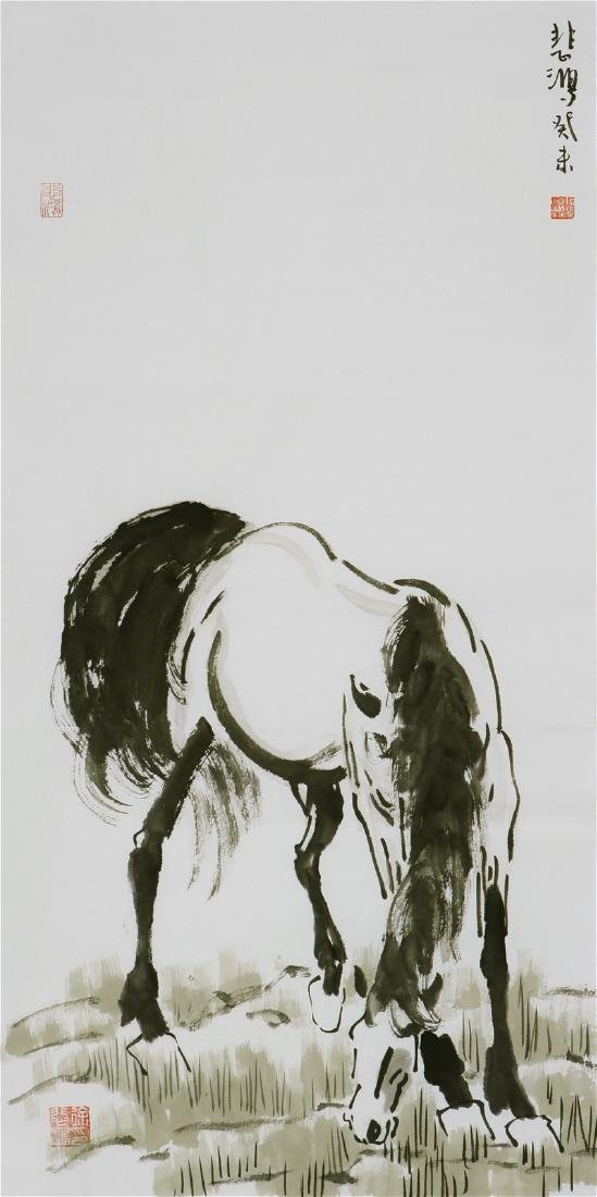 Chinese Painting of Horses, Signed Xu Beihong