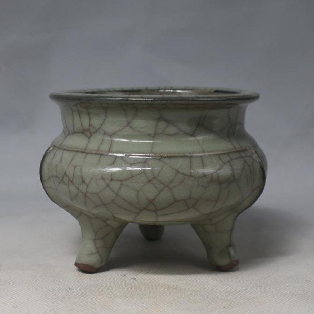 Chinese Guan Ware Tripod Censer