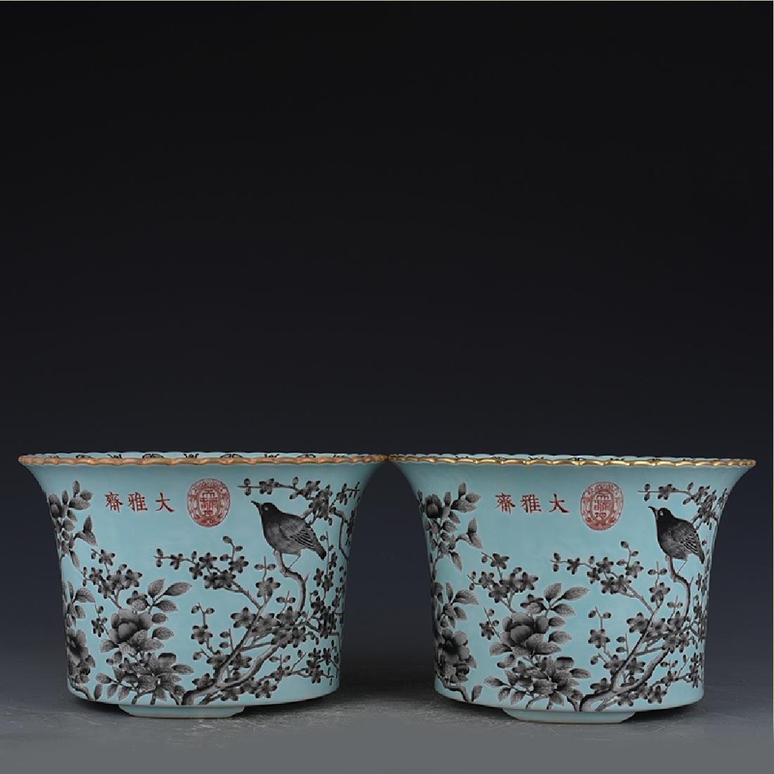 Chinese Green Glaze Flower Pot