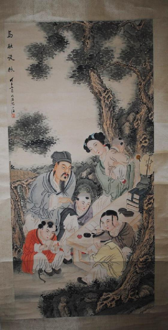 Chinese Painting of Portrait and Landscape