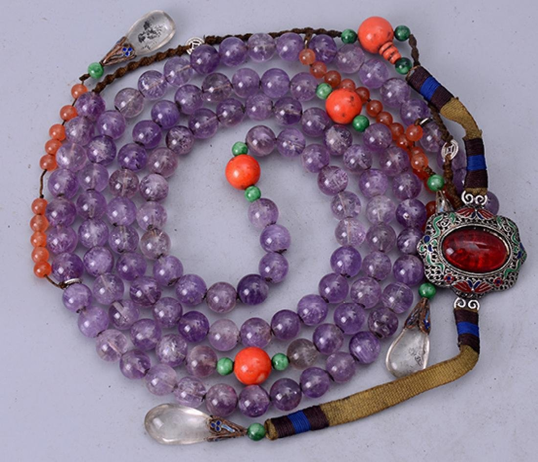 Chinese Amethyst Bracelet - 6