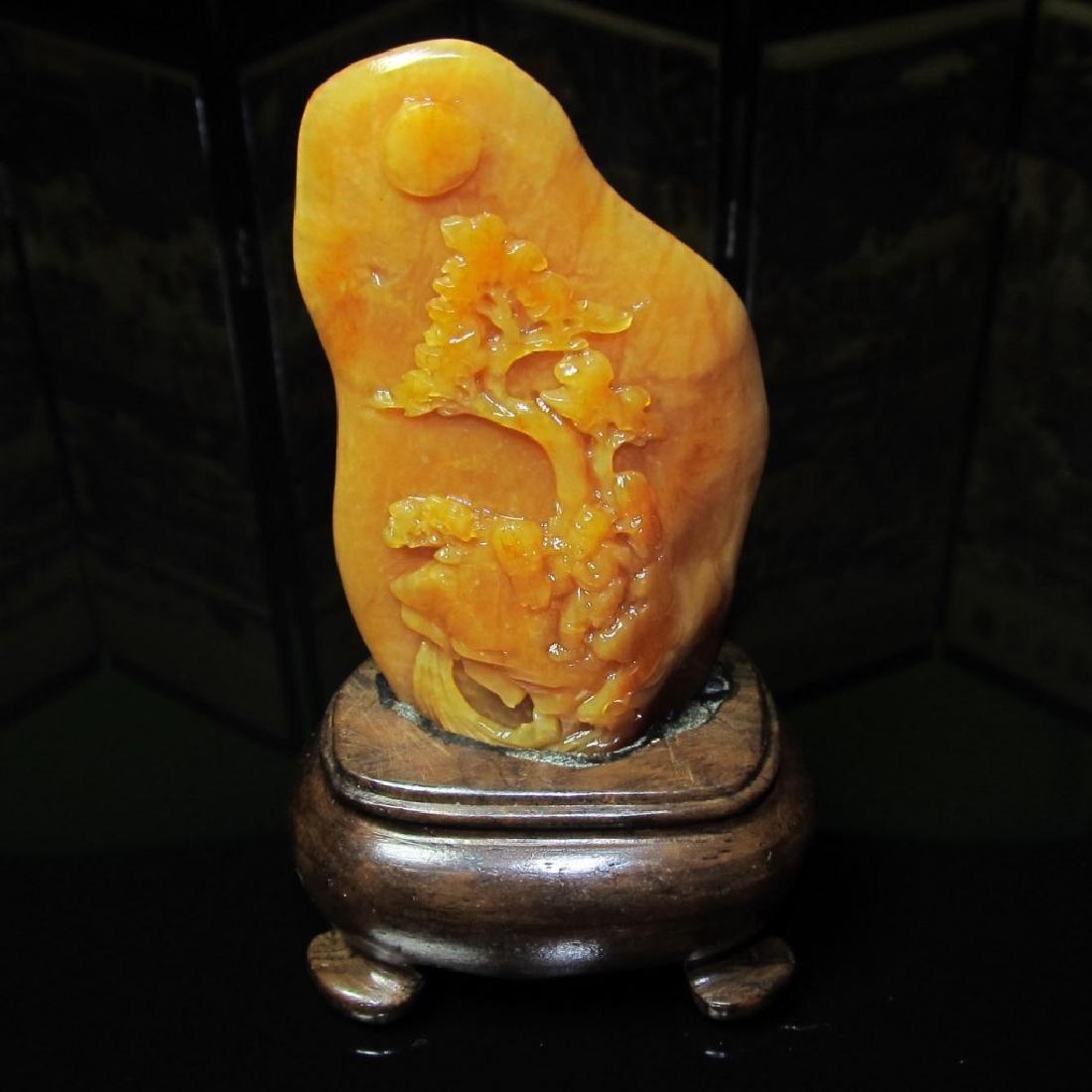 Chinese Yellow Shou Shan Stone
