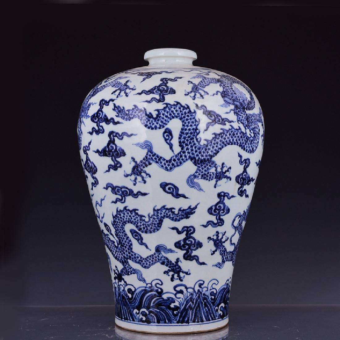 Chinese Blue and white Mei Ping Vase