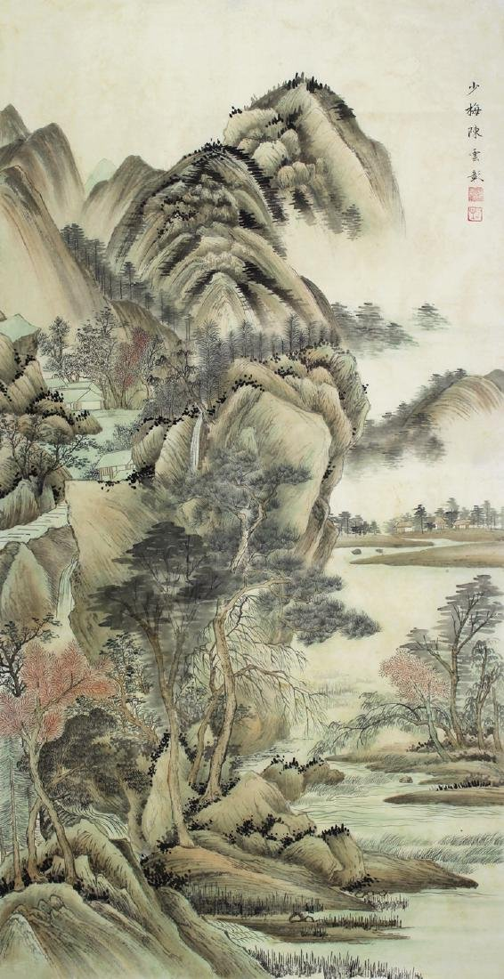 Chinese Painting of Landscape, Signed Chen Shaomei