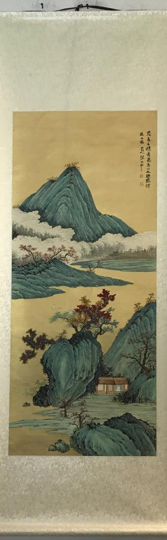 Chinese Painting of Landscape Signed Zhang Daqian