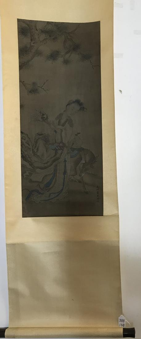 Chinese Scroll Painting of Figure