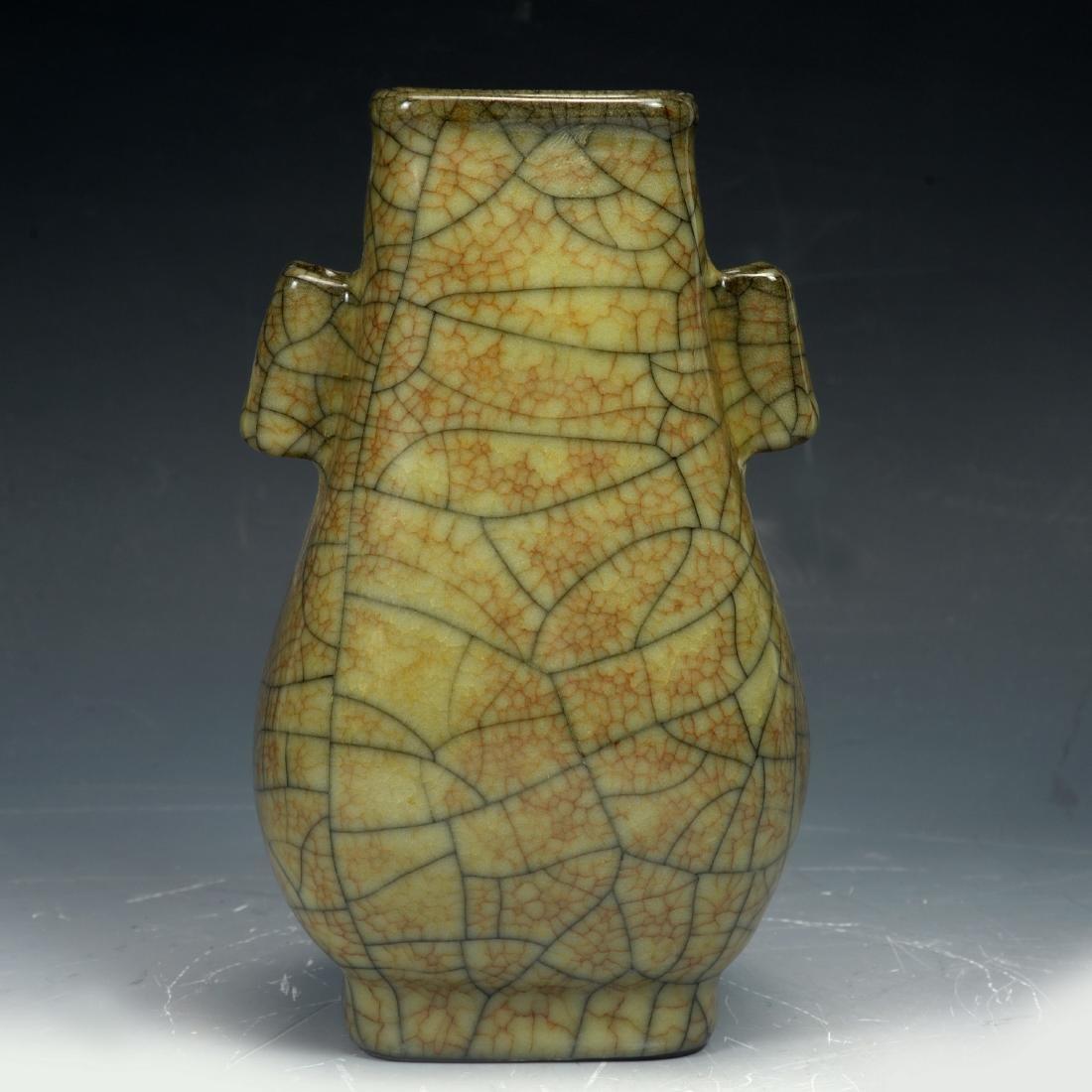 Chinese Sone Ge Ware Gray-brown Vase