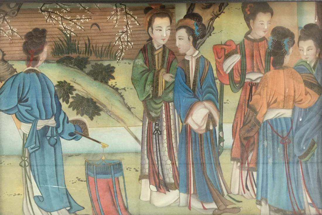 Chinese Reversion Painting of Figures - 3