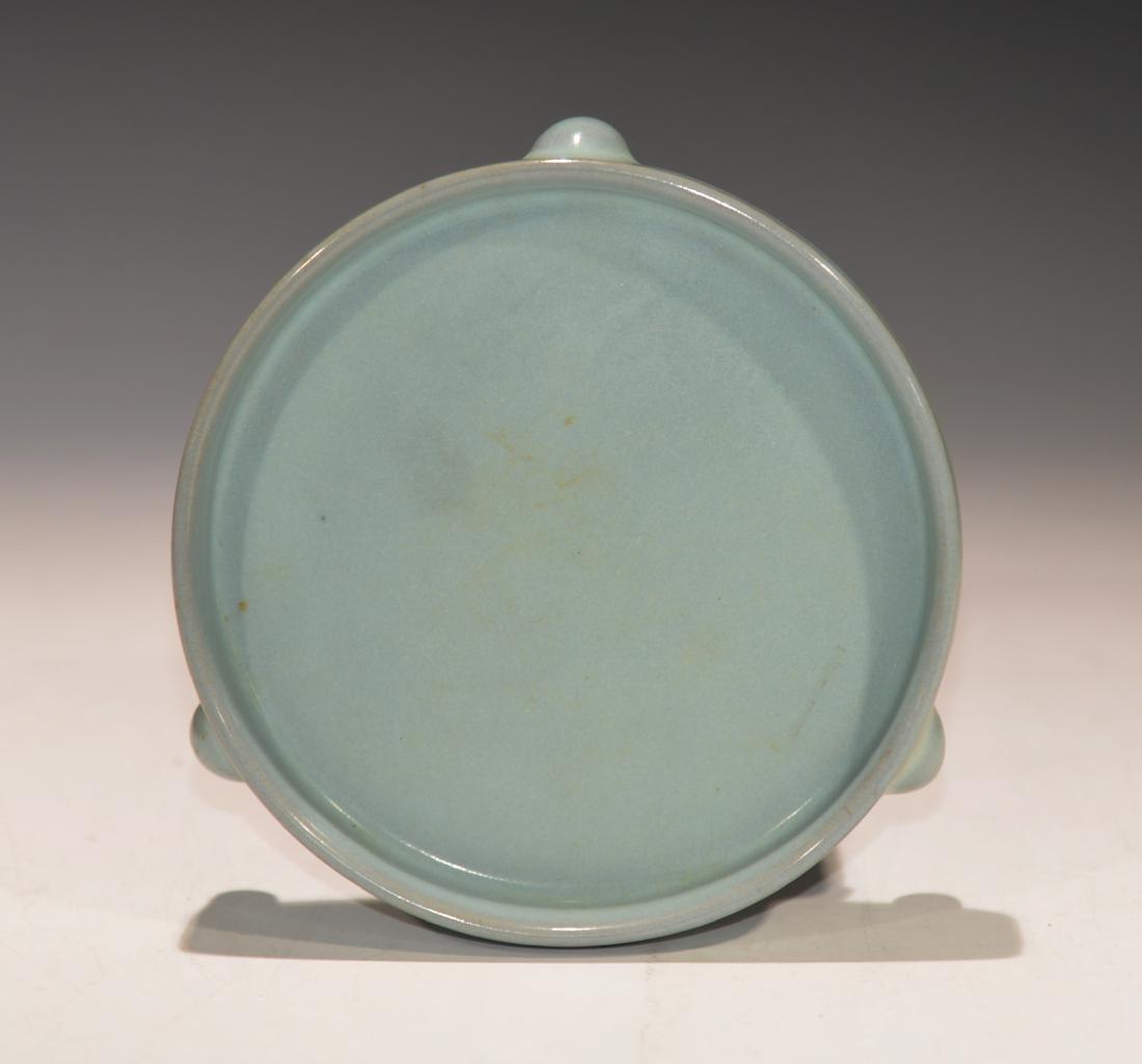 Chinese Ru-ware tripod porcelain washer